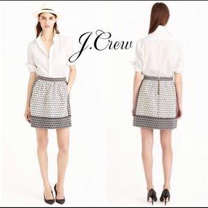 J. Crew Career Mini Black/White Tweed 4 EUC